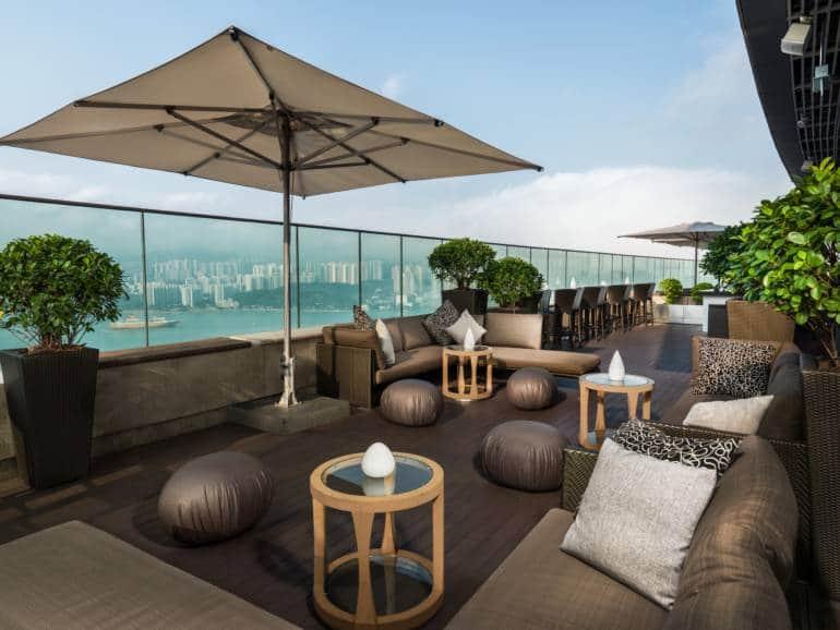View from SUGAR, Hong Kong Island rooftop bars