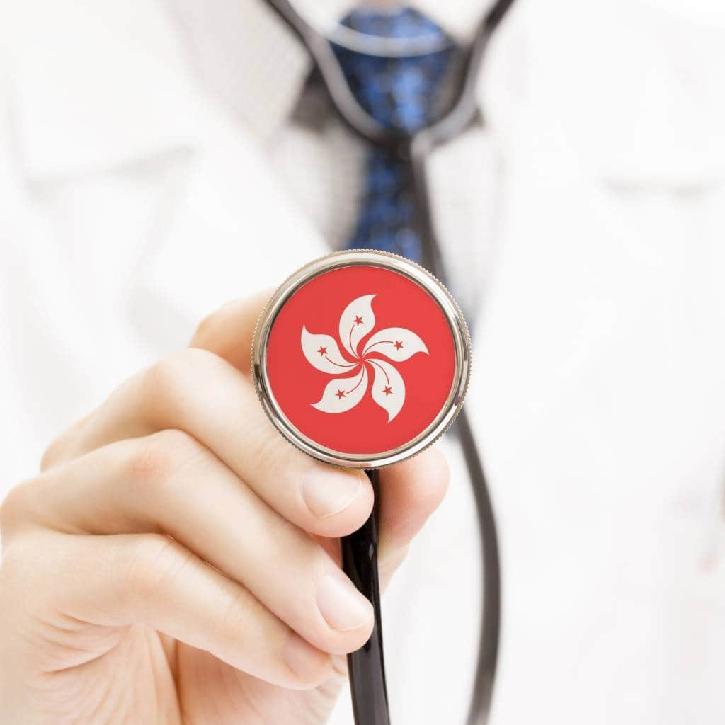 Hong Kong flag on stethoscope