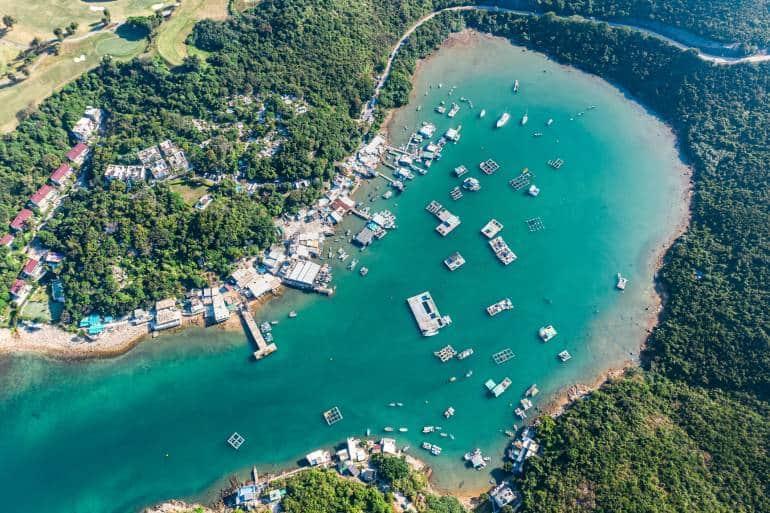 The beach view in hong kong global geopark