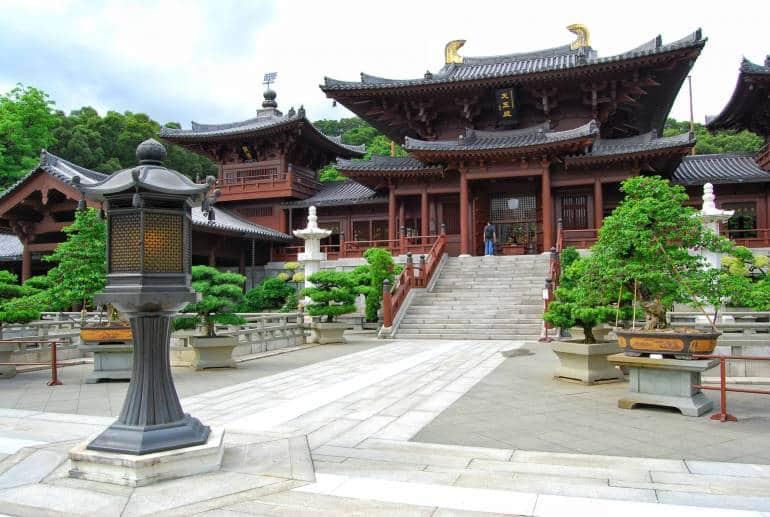 Chi Lin Nunnery, located in Diamond Hill right opposite Nan Lian Garden, Hong Kong.