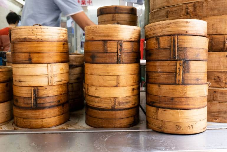 Bamboo busket for dim sum