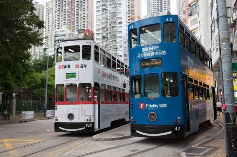 Happy Valley Tram Terminus in Hong Kong