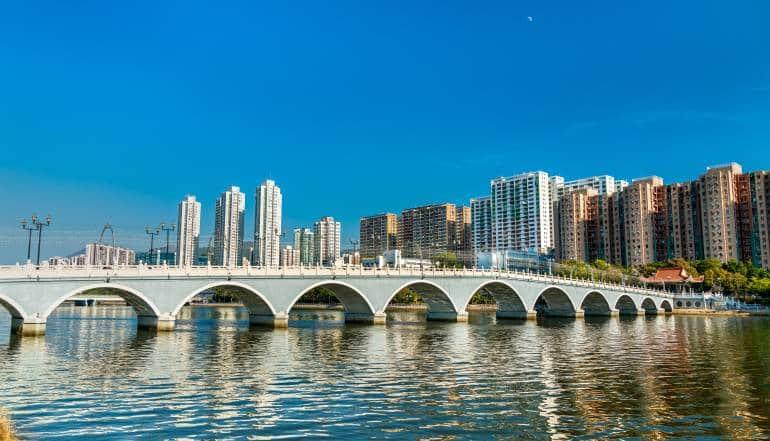 Lek Yuen Bridge, a pedestrian footbridge in Sha Tin, Hong Kong
