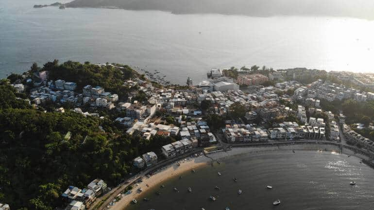 Peng Chau island aerial view